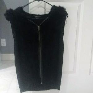 BCBG Rabbit Fur Sweater vest.
